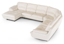 Divani Casa Levine Modern White Leather Sectional