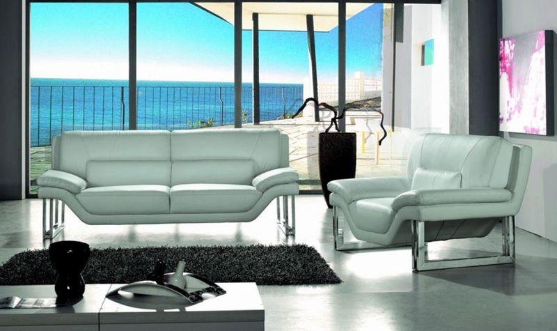 Sensational Vig Vgbnbo3807 Divani Casa New York Modern White Leather Sofa Set Dallas Designer Furniture Ocoug Best Dining Table And Chair Ideas Images Ocougorg