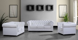 Divani Casa Paris Modern Leather Sofa Set