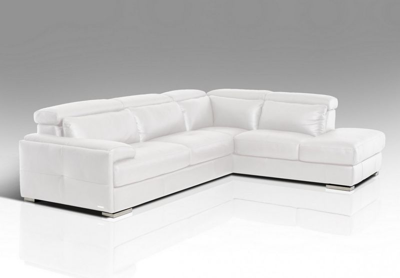 Divani Casa Pistoia Modern White Leather Sectional