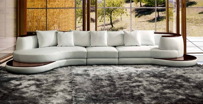 Divani Casa Rodus Leather Sectional