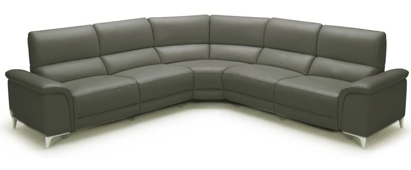 Divani Casa Tilden Modern Dark Grey Reclining Sectional