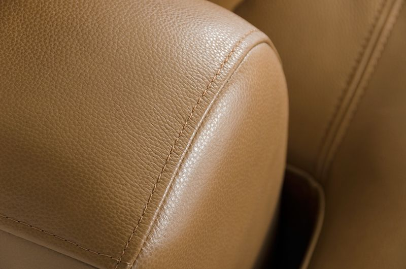 Divani Casa Tulip Modern Camel Leather Sectional Sofa