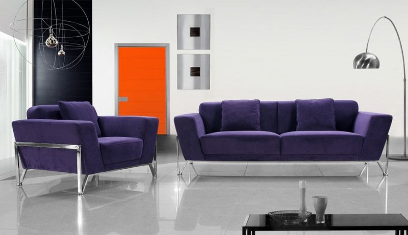 Divani Casa Vogue Modern Fabric Sofa Set
