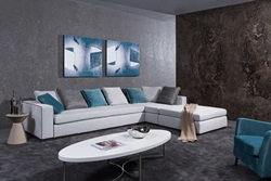 Divani Casa Whitley Modern Grey Sectional