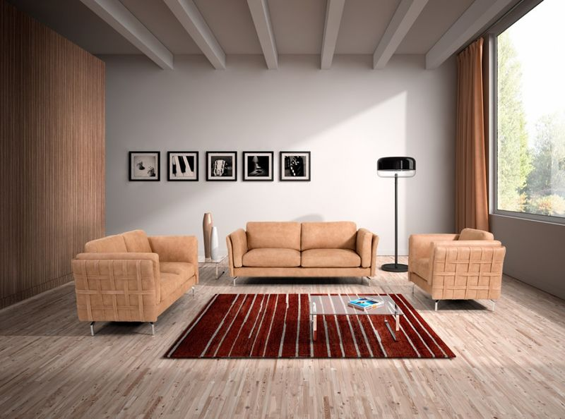 Estro Salotti Jenny Modern Italian Leather Sofa Set
