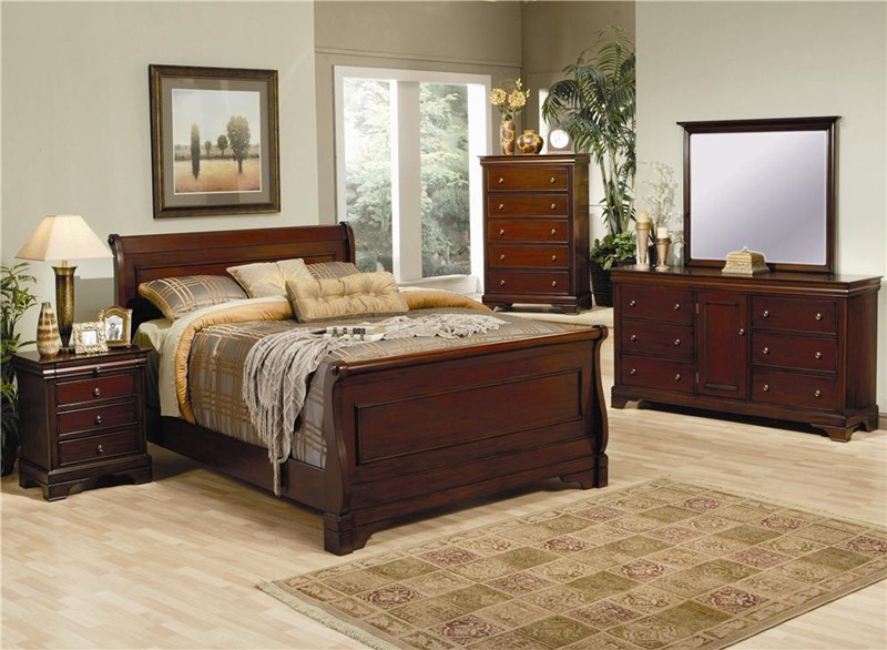 Versailles Bedroom Set with Sleigh Bed