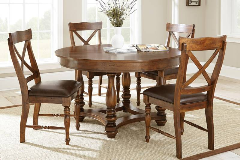 WD540T Wyndham Round Dining Table Set